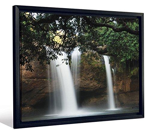 JP London FCNV2149 Framed Gallery Wrap Heavyweight Canvas Art Wall Decor (Hidden Sanctuary Tropical Jungle Cave at 20.375