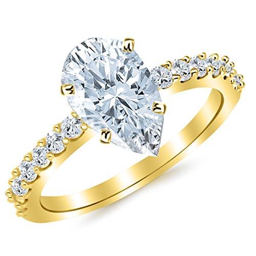 0.45 Ct Pear Diamond - 9