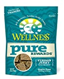 Wellness Pure Rewards Natural Grain Free Dog Treats, Venison Jerky, 6-Ounce Bag