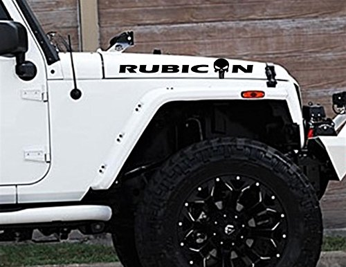 SixtyTwo24 Punisher Rubicon Hood Decal- {SILVER} 20.25
