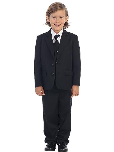 Amazon.com: Traje de esmoquin de 2 botones para niño, 5 ...