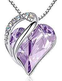 """[Presented by Miss New York Infinity Love Swarovski Crystal Heart Pendant Necklace, Silver-Tone, 17""""+2"""", 2017 Spring Collection, Nickel/Lead/Allergy Free, Luxury Gift Box"""
