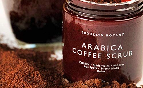 Brooklyn Botany Coffee Body Scrub - 100% Natural - Great for Face and Facial Scrub - Best Anti Cellulite & Stretch Mark Treatment, Spider Vein Therapy for Varicose Veins & Eczema- 10 oz 6