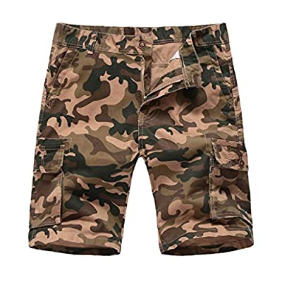 Men's Short Camouflage Button-Pocket Overalls Wind Overalls Shorts