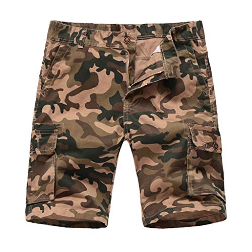 - Men's Cargo Shorts Fashion Casual Loose Camouflage Cotton Trousers Relaxed Fit Beach Pant