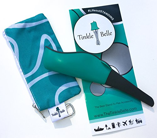 The Tinkle Belle female portable urination device teal with case! Discreetly Pee Standing without disrobing! Intuitive,Compact and Reliable for Hiking/Camping/Travel/Skiing/Concerts/Festivals