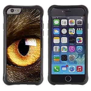 Jordan Colourful Shop@ Cat Eye Orange Yellow Fur Pet Looking Rugged hybrid Protection Impact Case Cover For iphone 6 6S CASE Cover ,iphone 6 4.7 case,iphone 6 cover ,Cases for iphone 6S 4.7