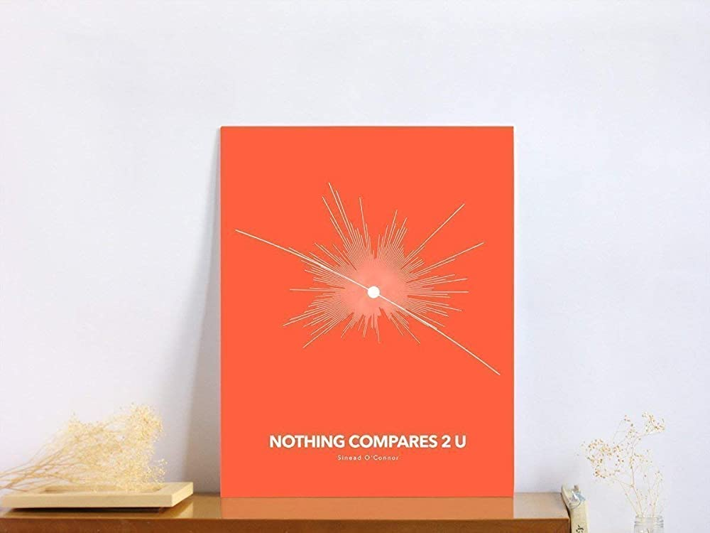 Nothing Compares 2 U Song Lyric Quote Print