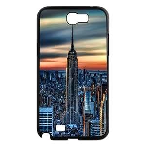 Jumphigh New York City Daybreak Samsung Galaxy Note 2 Cases, [Black]