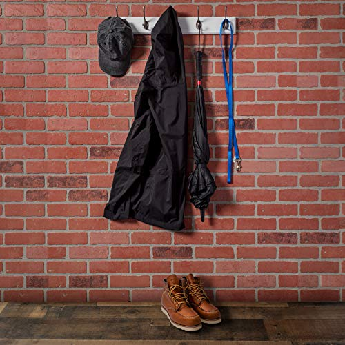 Wall Mounted Coat Rack with 5 Hooks by Kloveyleaf - Modern Décor for Hanging Towels, Keys, Jackets, Dog Leash for Bedroom, Hallway, Entryway, Mudroom - Mounting Hardware Included Photo #5