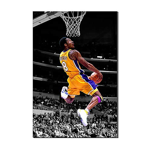 Kobe Bryant Wallpaper Basktball Home Decor Sports Poster Painting Canvas Prints Picture Frameless Artwork New Home Gift