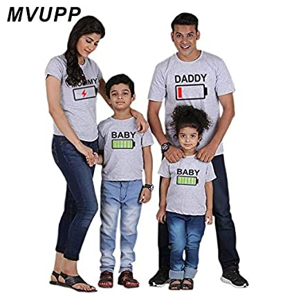 f6b389771e Summer Mommy and me Clothes Family Look Matching Outfits Mini Me Father  Mother Daughter Son Clothing mom Daddy Baby Girl Tshirt : Colour7, ...