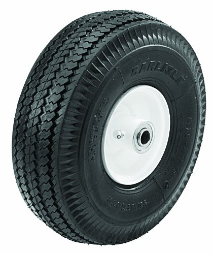 Oregon 72-765 Caster Wheel Assembly 410/350-4 2-Ply Sawtooth Tire and - 2 Ply Sawtooth