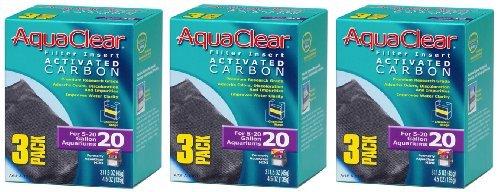Aquaclear Activated Carbon Insert, 20-Gallon Aquariums, 3-Pack (3-Pack) by Aqua Clear