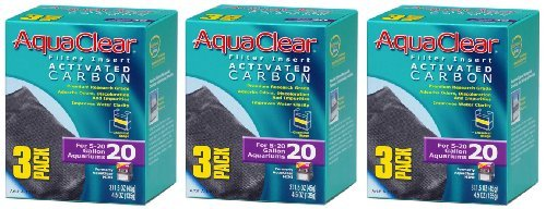 Aquaclear Activated Carbon Insert, 20-Gallon Aquariums, 3-Pack (3-Pack)