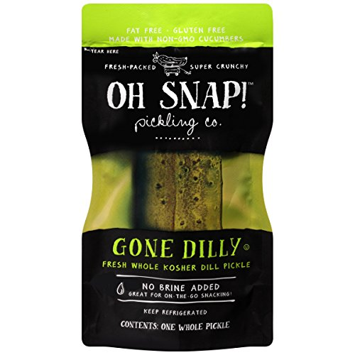 Whole Dill Pickles - Oh Snap Fresh Whole Kosher Dill Pickle, (Pack of 12)