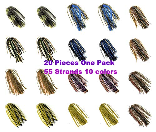 - Wtrees Best Fishing,Jig Kit Set Bulk (Bass Jig Skirts Kit E)