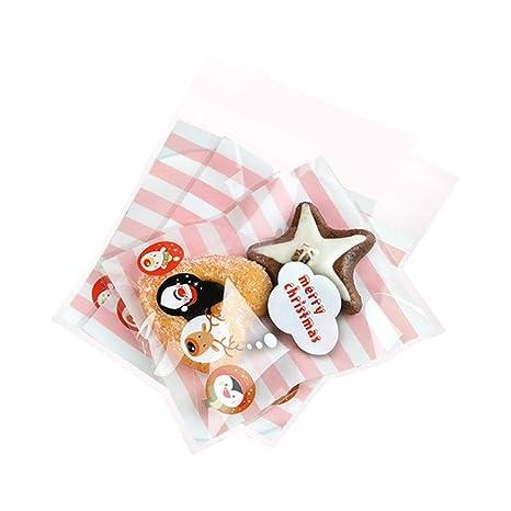 LAAT 100PCS Bolsa de Galletas para Regalos Caramelo Bolsas de Galletas Galletas Dulces Galletas Lollipop para la Boda Fiesta ...