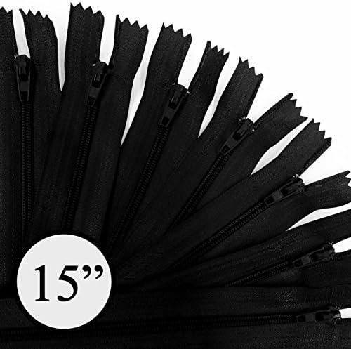 100 Zippers//Pack KGS 5 inch Nylon Zipper #3 20 Colors Assorted Colors