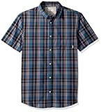 Quiksilver Men's Everyday Check Short Sleeve, Real Teal Everyday Check, M