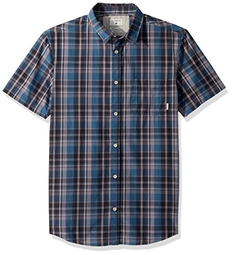 Quiksilver Men's Everyday Check Short Sleeve, Real Teal Everyday Check, M by Quiksilver