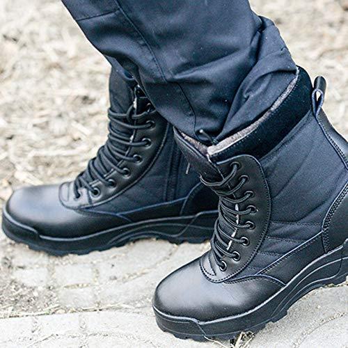 Traspirante Militare Stivali Tela Deserto Inverno Uomo Tattico DSFGHE Black Leggero Alta Stivali Nero E0BRwq