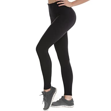 048843c317041c UNITENDA-EUR Sport Leggings Damen High Waist Push Up Leggings Schwarz  Blickdicht Laufhose Damen Lang
