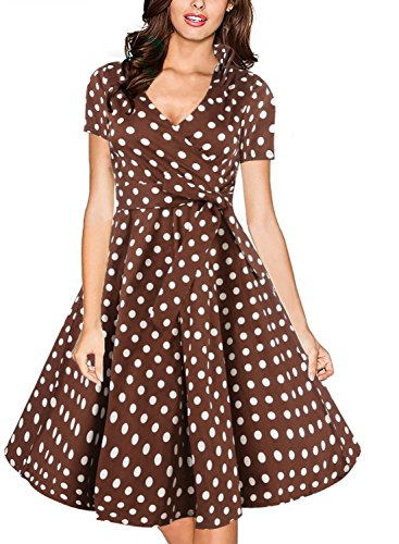 Vintage Brown Polka Dot - 8