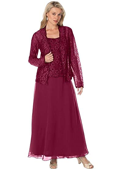 Fenghuavip Plus Size Mother of The Bride Dress with Lace ...