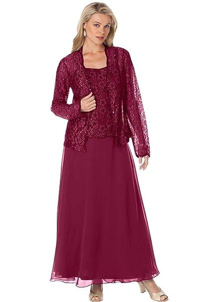Amazon.com: Fenghuavip - Vestido de talla grande para madre ...