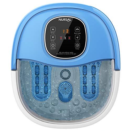 NURSAL Foot Spa Massager with Heated Bath, Massage Rollers, Bubbles, Digital Adjustable Temperature Control MM-17C (Dr Scholl Foot Bath)
