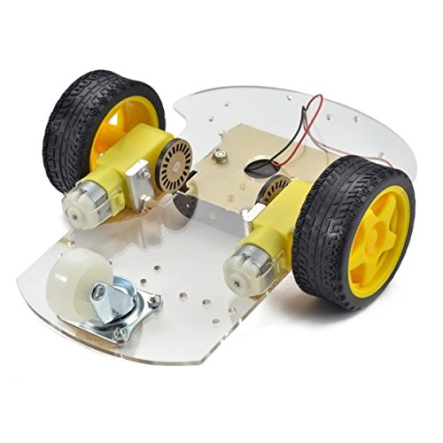 ILS - 1Set 2WD Mini Round Double-Deck Smart Robot Car Chassis DIY Kit For Arduino (Deck Connector Kit)