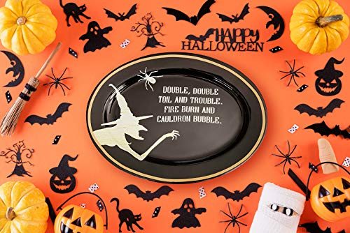 Gibson Halloween Plate Serving Platter Halloween Candy Bowl Ouija Board Plate Serving Platter Trick Or Treat Bowl Halloween Party (Witch)