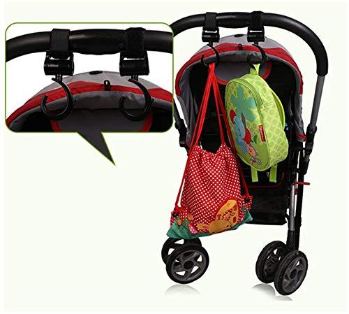 Ganchos Carrito Bebé Engancha tus bolsas de la compra, bolso o cambiador en el manillar de la Sillita, Cochecito o Silla de Ruedas(Pack de 2. Ajuste ...