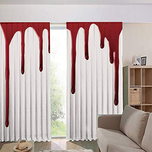 iPrint Blackout Curtains for Kids Room Noise Reducing Thermal Insulated Window Curtain,Halloween Zombie Crime Scary Help me Themed 108Wx90L Inch ()