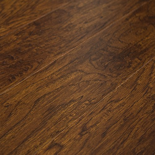 Timeless Designs Dreamland Smoked Hickory 12mm Laminate Flooring with 2mm Foam Backing SH88168 SAMPLE - Smoked Design