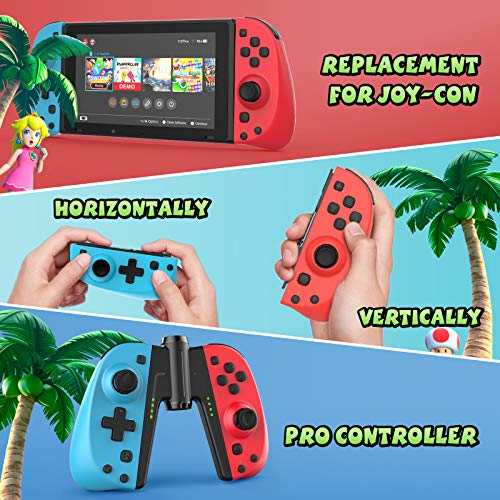 Gamory Wireless Joy-Con Controller (L/R) for Nintendo Switch, Replacement Joystick for Joy Con Bluetooth Gamepad