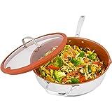 Nuwave Dome Replacement Best Deals - Nuwave 5 Quart Duralon Non-Stick Ceramic Cooking Pan with Lid- Multicolor