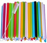 Harileminy Pack of 100 Pieces 8 Inch Long Assorted Bright Color Jumbo Smoothie Straws Extra-Wide Drinking Straws for Boba Bubble Tea,Milkshakes Slushies Party Straws,Healthy Drinks Disposable