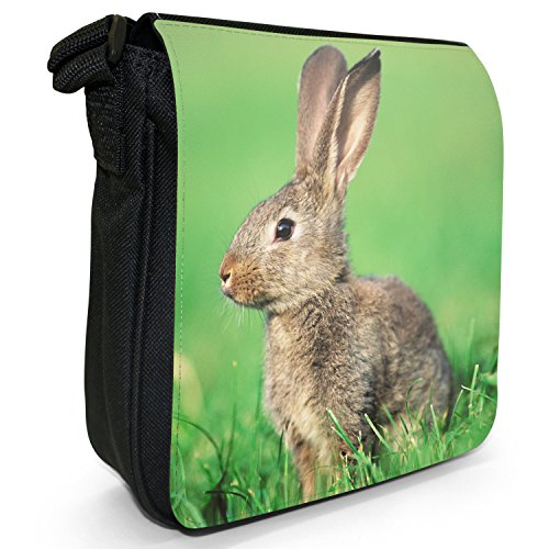 Small Canvas Size Rabbit Bag Listening Bunny Black Shoulder Rabbits Brown 5ZYq8xptw