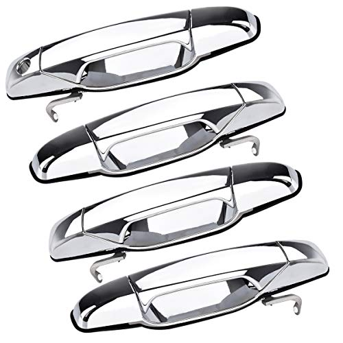faersi Outside Exterior Door Handle for Cadillac Escalade Chevrolet Silverado GMC Sierra Yukon Pickup Truck SUV 2007 2008 2009 2010 2011 2012 2013 (4pcs Front Rear Driver & Passenger Side)