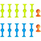 12/22 PCS Pop Sucker Toys, Interactive Silicone Target Marker And Darts Funny Toy Set, Release Stress Family Toy For…