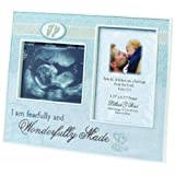 "Lillian Rose Wonderfully Made Ultrasound Frame, Blue, 9"" x 7"""