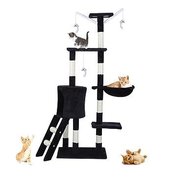 Rascador multifuncional para casa de mascotas, árbol de gato, rascador divertido para después de escalar, ...