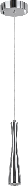 Aspen Creative 61060-1 One-Light LED Pendant in Chrome, 1