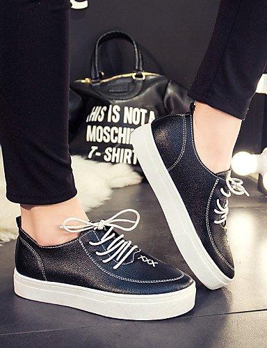 Similicuir Noir Njx 5 Bas Black Blanc Femme Bottes Chaussures Uk5 Talon Hug Décontracté Bout us7 Eu38 5 Cn38 Arrondi gq1IgPr