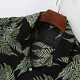 NREALY Camisa Mens Colorful Summer Short Sleeve
