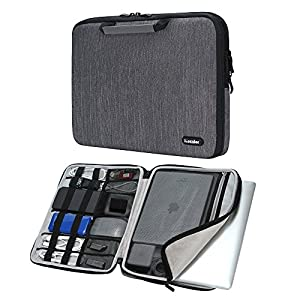 """iCozzier 13-13.3 Inch Handle Electronic accessories Strap Laptop Sleeve Case Bag Protective Bag for 13"""" Macbook Air/Macbook Pro / Pro Retina Sleeve - Dark Gray"""