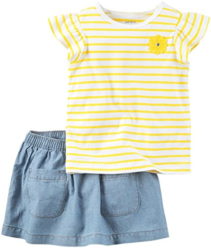Carter's Baby Girls' 2 Pc Playwear Sets 239g351, Stripe, 24 Months