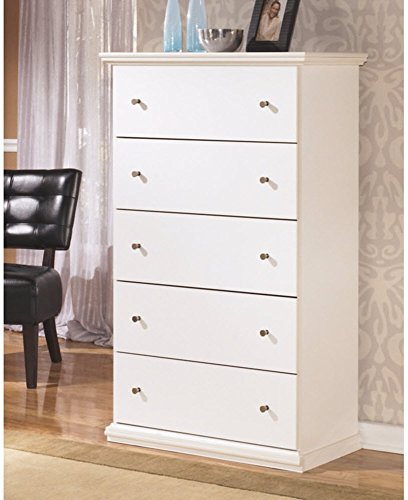 Ashley Furniture Signature Design - Bostwick Shoals Chest of Drawers - 5 Drawers - Vintage Casual Cottage Design - White